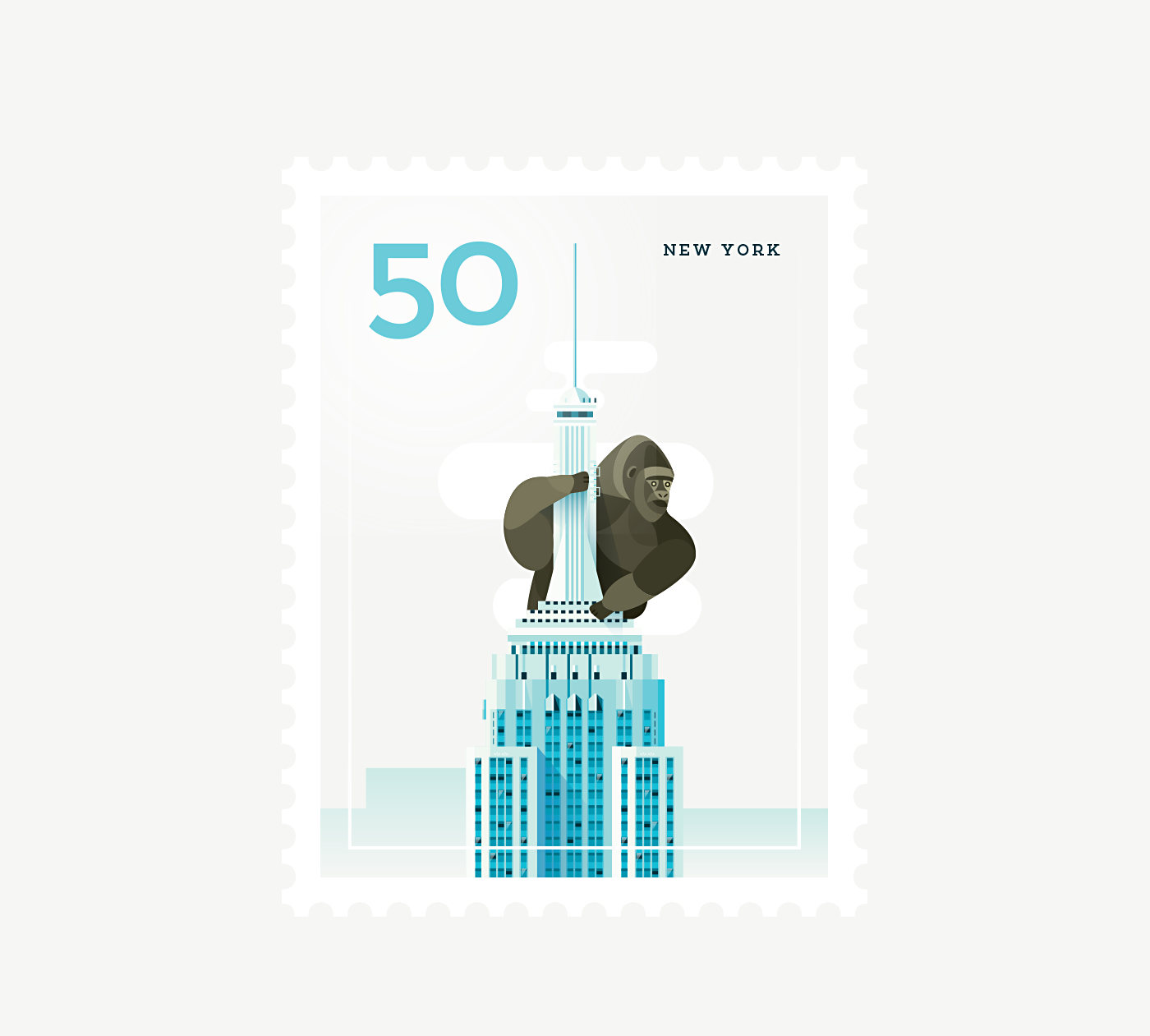 Stamp : Cities - New York