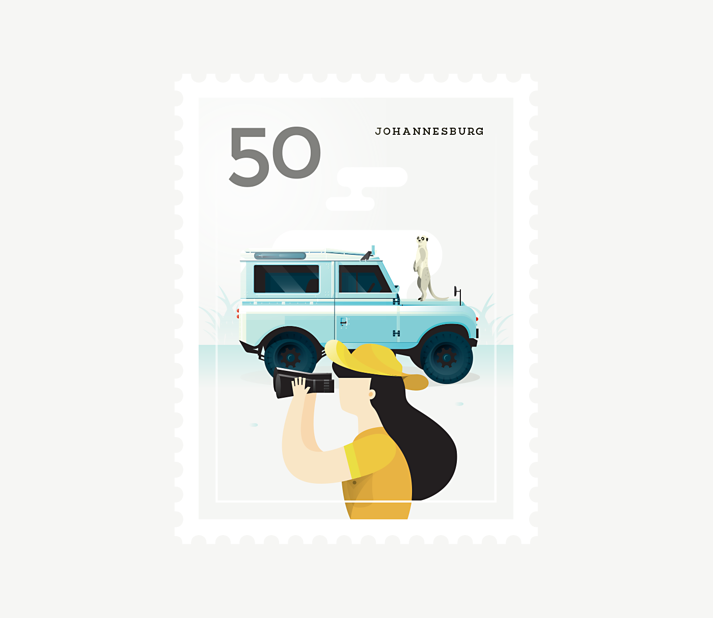 Stamp : Cities - Johannesburg