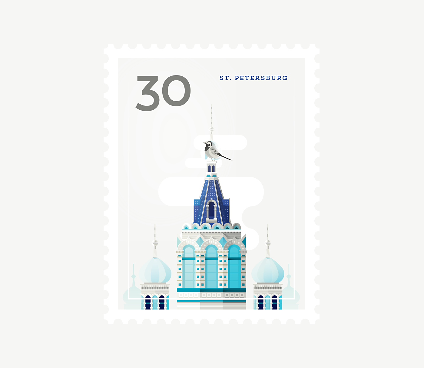 Stamp : Cities - St. Petersburg