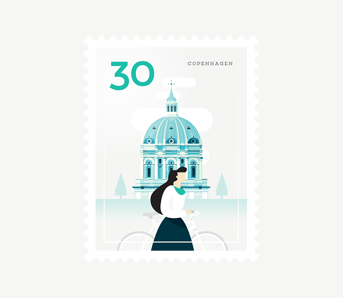 Stamp : Cities - Copenhagen
