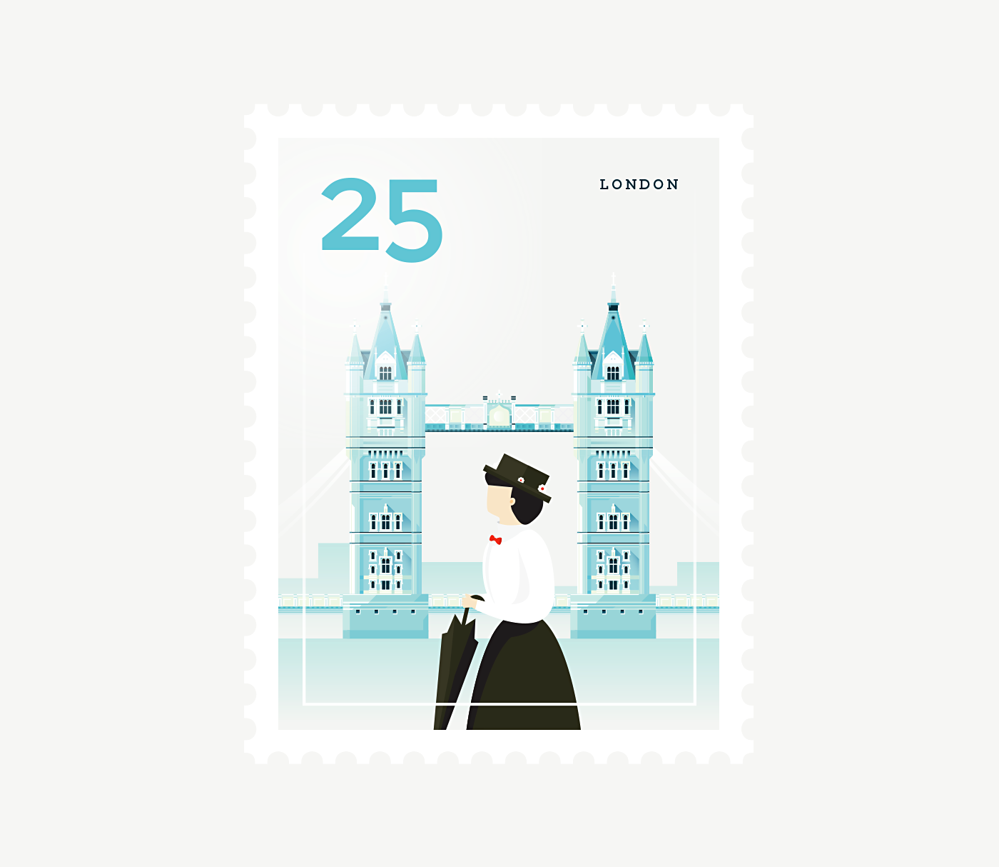 Stamp : Cities - London