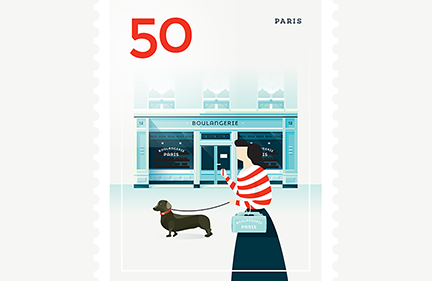 Stamp : Cities